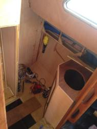 Building cupboards and sink area.